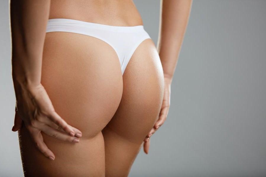 Glúteos de mujer con piel suave y firme con tratamiento Lanlumna para remodelar y mejorar los glúteos